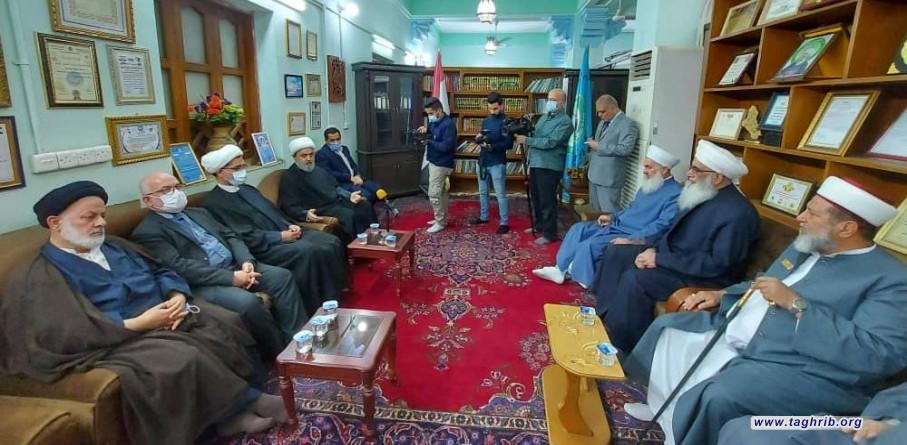 رئيس دار الافتاء العراقية : التعامل الاخوي لايران مع اهل السنة احبط كثير من الفتن الطائفية