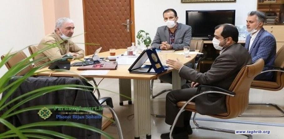 لقاء نائب الثقافة وشؤون الطلاب بجامعة المذاهب الإسلامية مع نائب وزير الشؤون الاجتماعية والثقافية لوزير العلوم