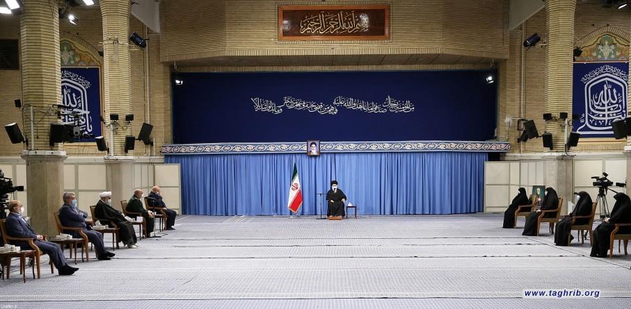 دیدار دستاندرکاران مراسم سالگرد شهید سلیمانی با رهبر معظم انقلاب اسلامی