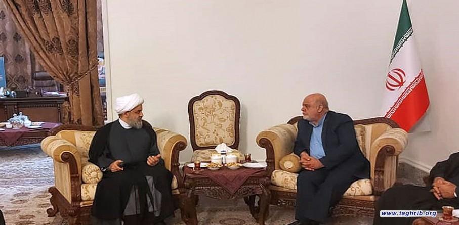 دیدار دبیرکل مجمع تقریب با آقای مسجدی سفیر جمهوری اسلامی ایران در عراق