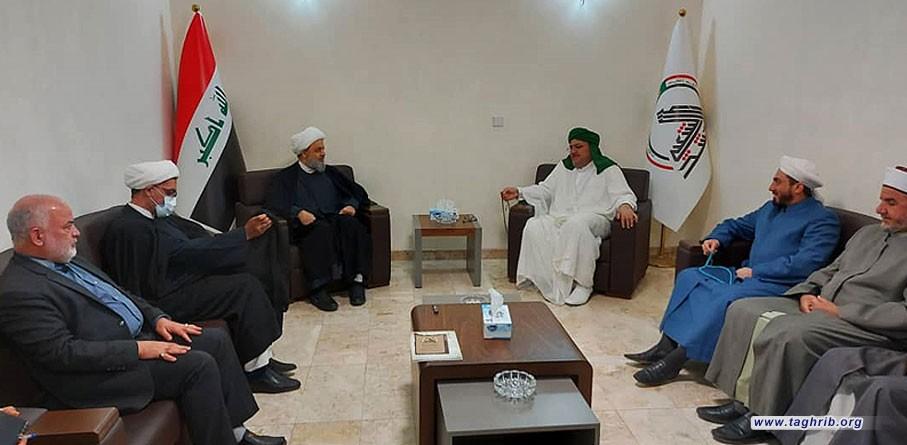 دیدار دبیرکل مجمع تقریب با سید عبدالقادر آلوسی رئیس جمعیت علمای پیوند محمدی عراق