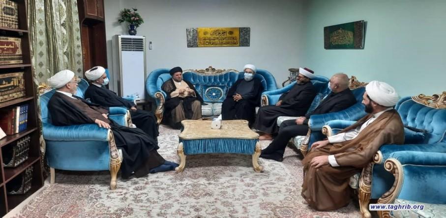 """الدكتور """"حميد شهرياري"""" يلتقي مع رئيس مجمع الوحدة الشيخ علي العلاق"""