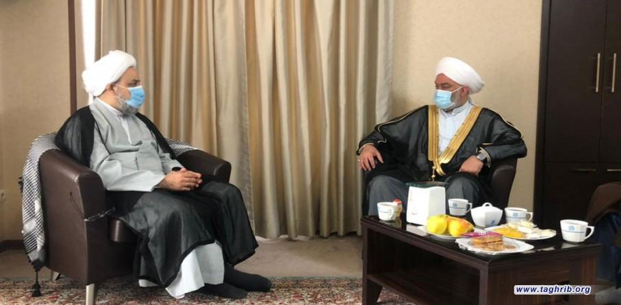 لقاء الأمين العام الدكتور شهرياري مع الشيخ خالد الملا رئيس تجمع علماء العراق