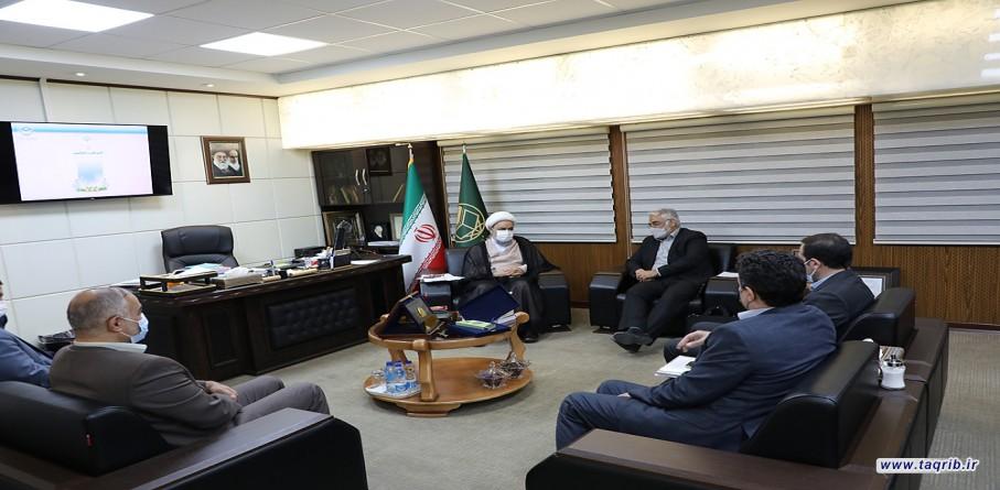 """الدكتور """"حميد شهرياري""""يلتقي مع رئيس جامعة الحرة الاسلامية الدكتور طهرانچی"""